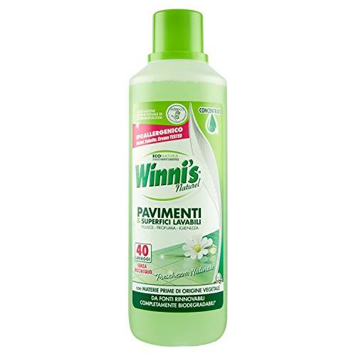 Winni' S – reiniger, vers natuur, hypoallergeen, wasbaar voor vloeren en oppervlakken, 40 wasbeurten – 1000 ml