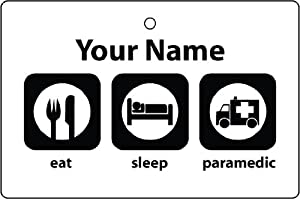 Personalised Eat Sleep Paramedic Car Air Freshener