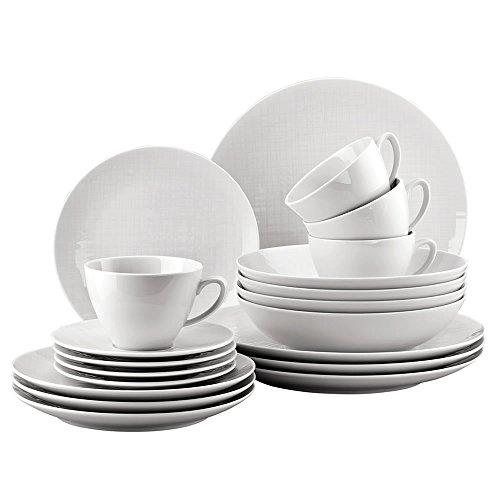 Rosenthal 11770-800001-28519 Set 20 Pièces/Paire Tasse Kombi, Porcelaine, Blanc, 32 x 31,7 x 28,1 cm