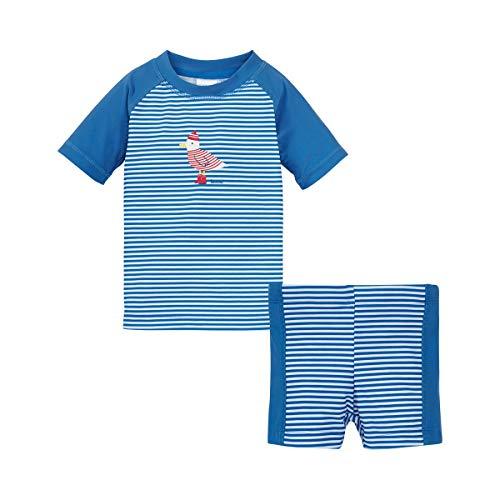 Bornino Ensemble 2 pièces T-Shirt de Bain et Short de Bain Tenues de Bain bébé, Bleu