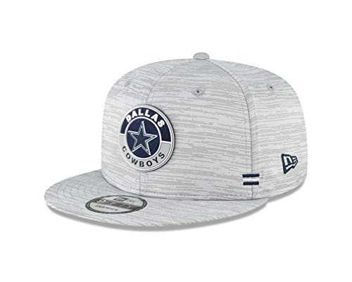 NFL Dallas Cowboys Mens New Era 2020 Official Sideline 950 Hat, Gray, OSFM