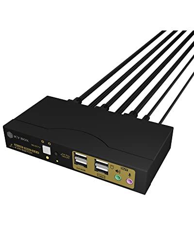 ICY BOX Conmutador KVM para Dos PC