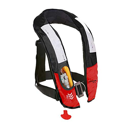 Eyson Inflatable Life Jacket Life Vest Highly Visible Automatic for Adults (Black)