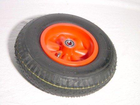 Berg Toys Rad 42.03.40.28 komplett mit roter Felge und Kugellager Ersatzteil