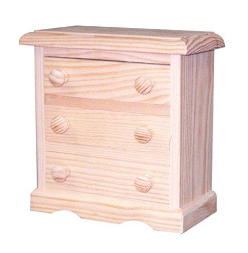 buenos comparativa Miniatura conveniente.  Una caja de madera con una caja.  Crudo en pino.  color.  Medida … y opiniones de 2021