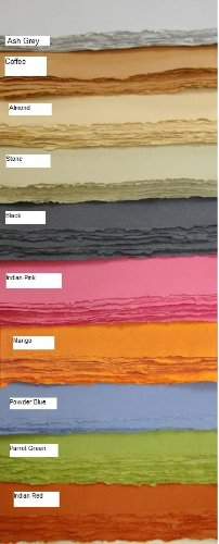 "KHADI Paper Multicolor RAG Envelope (20 PCS) Packs C5C 100 GSM 6.5"" X 9"""