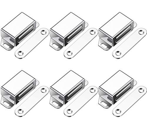 Liuer 6PCS Magnetschnäpper Schrankmagnet Haltekraft 20 KG Magnetverschluss Türmagnet Schranktür magnet Türschliesser Magnetisch Haltemagnet Möbelmagnet Magnetschloss stark Tür (Mittel)