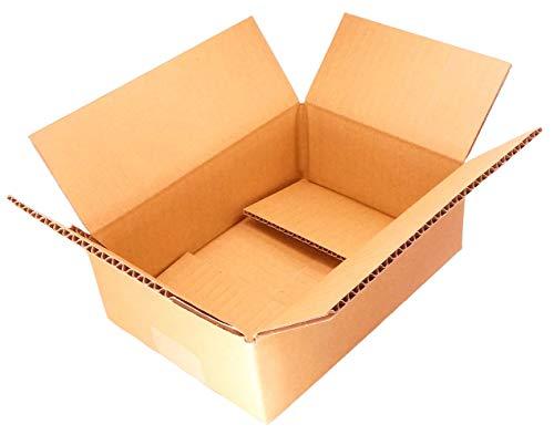 【 日本製 】 ダンボール (段ボール 箱) 50サイズ 【 10枚セット 】 宅配便 引越し 梱包 収納 箱 (23.5×17×8cm) dA1-10