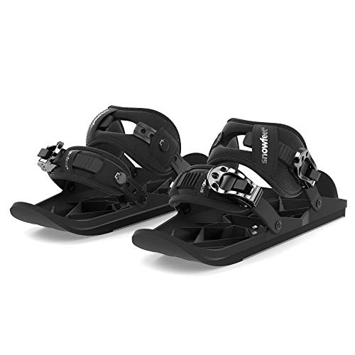 Snowfeet X - Mini Ski Skates for Snow The Short Skiboard Snowblades The Real Original