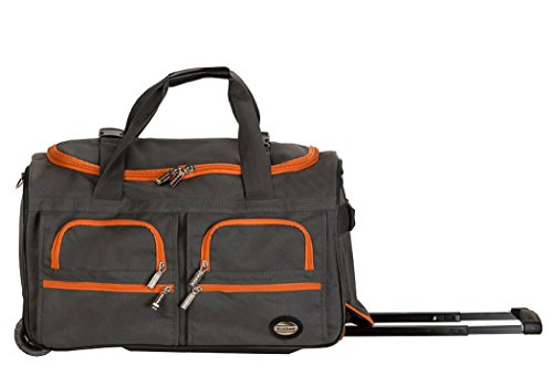 Rockland Luggage 22 Inch Rolling Duffle Bag, Charcoal, One Size