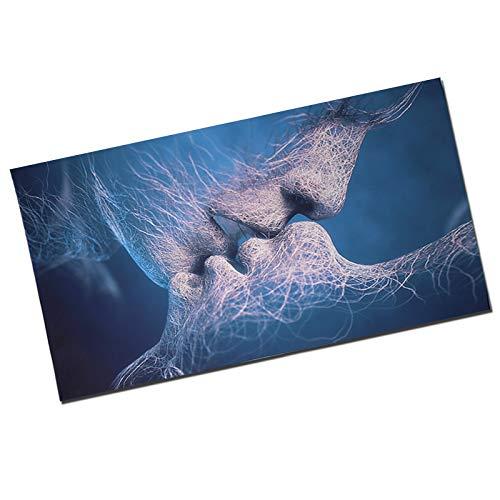 Lover Kiss - Quadro da Parete con Scritta Amour Baiser, Arte Astratta