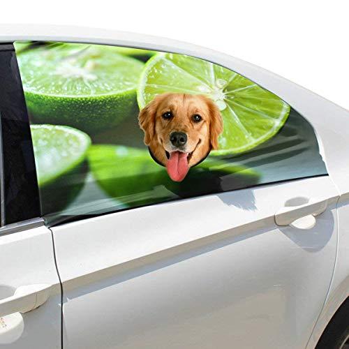 Green Lime Lemon Pet Dog Sicherheit Autoteil Fahrzeug Auto Fenster Zaun Vorhang Barrieren Protector Für Baby Kind Sonnenschutz Abdeckung Universal Fit SUV