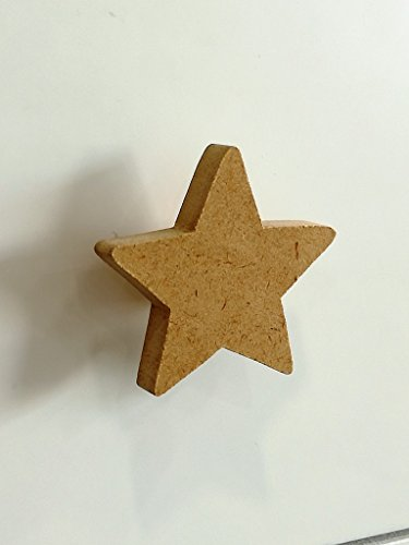 Greca Pomos Estrella DM (6 Unidades). En Crudo, para Pintar. Decoración y Manualidades.Medidas (Ancho/Fondo/Alto): 6 * 3 * 6 cms.