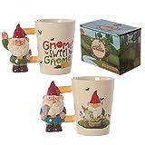 Tasse Gartenzwerg winkend Gnome Zwerg Kaffeetasse Kaffeebecher Becher Teetasse