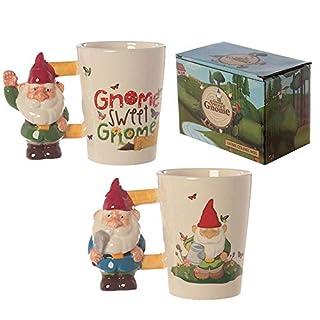 Gnome Shaped Handle Ceramic Mug