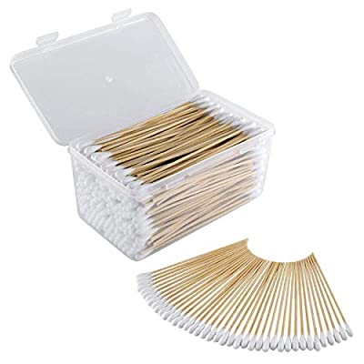 BOOSTEADY .22 .223 Caliber 5.56 MM 6 Inch Cotton Gun Cleaning Swabs in Storage Case