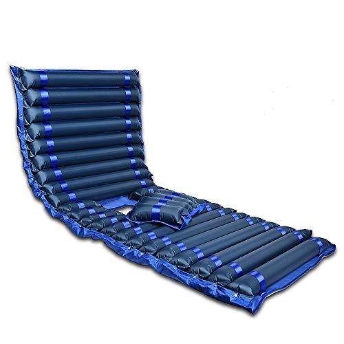 Afwisselend drukkussen en pomp laag luchtverlies ziekenhuis bed medische vervanging matras topper voor druk zweren en bed zweren Blauw, gaten
