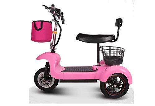 Mini Coche Eléctrico Plegable de Motocicleta, Coche Eléctrico Mini Pedal de Tres Ruedas para Adultos, Coche de Batería de Litio Portátil Plegable de Viaje, Bicicleta de Viaje de Motocicleta Al
