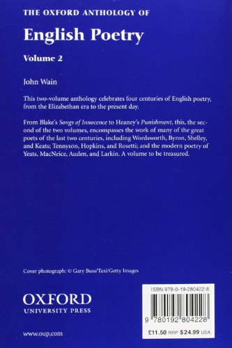The Oxford Anthology of English Poetry Volume II: Blake to Heaney: 002