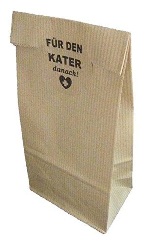 50 Kraft Bags FÜR DEN KATER- KIT ANTIRESACA texto en alemán.