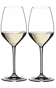 Riedel Heart to Heart Riesling Glasses, Set of 2, Clear, 16.25 Ounces -