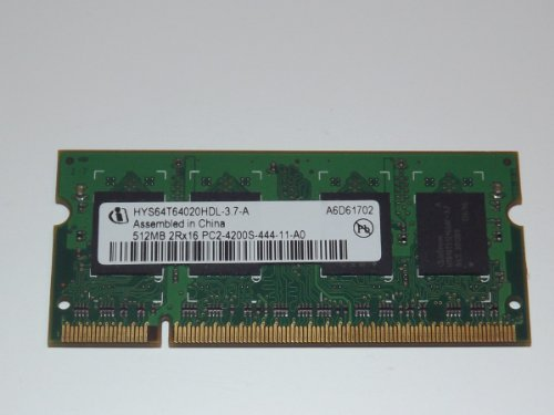 INFINEON 2Rx16 512MB DDR2 PC2-4200S - 444-11-A0 - HYS64T64020HDL - 3, 7-A Ref: 11