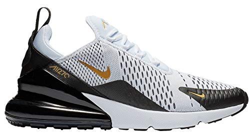Price comparison product image Nike Men's Air Max 270 White / Black / Gold AV7892-100 (Size: 9.5)