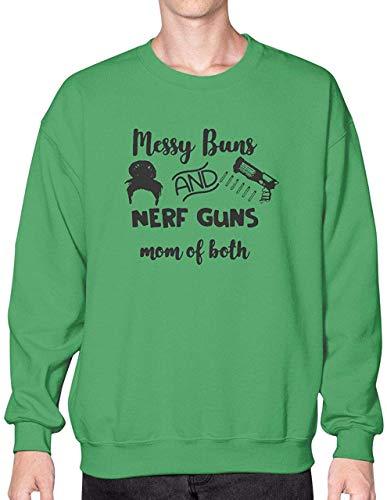 Messu Buns And Nérf Gúns Mom Of Both Tshirt Royal Green Best Women90s Teesretro Funny T Shirt Art Tee 80S Custom T Shirts Unisex Hoodie Sweatshirt Long Sleeve Tee