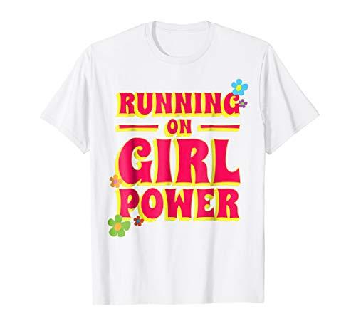 Running on Girl Power Tshirt Young Feminist Flower Power