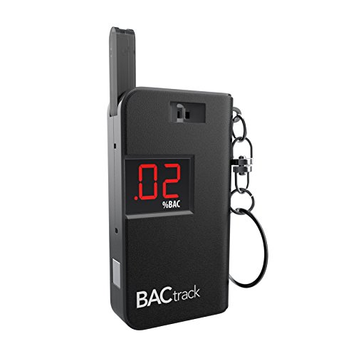 BACtrack Keychain Breathalyzer Portable Keyring Breath Alcohol Tester, Black