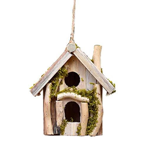 XWYNL Outdoor Hanging Garden Bird House Retro Creative Décoration extérieure Bird House Country Style Chalets Oiseaux Protection de l'environnement Décor 6NL83