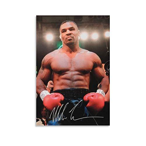 DRAGON VINES Mike Tyson Professional Boxer Atleta puede colgar cuadros, pósteres, murales e imágenes 40 x 60 cm