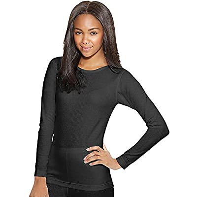 Duofold by Champion Thermals Women's Base-Layer Shirt_Black_M from