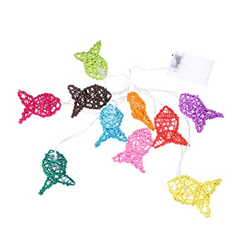 LEDMOMO String Night Lights Set LED Fish Shaped Constantly Bright for Christmas Decorations (Colorful)