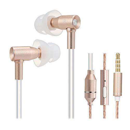 Docooler IBRAIN FC31 Luftschlauch Anti-Strahlung In-Ear-Kopfhörer 3,5 mm Kabelgebundenes Musik-Headset Strahlungsfreier Kopfhörer Rauschunterdrückungs-Lautstärkeregler mit Mikrofon