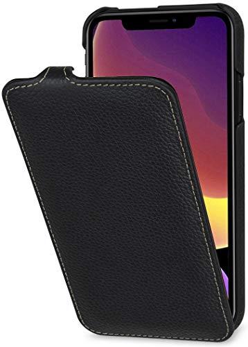 StilGut UltraSlim entwickelt für iPhone 11 Hülle - iPhone 11 Flip Hülle aus Leder, Klapphülle, Handyhülle, Lederhülle - Schwarz