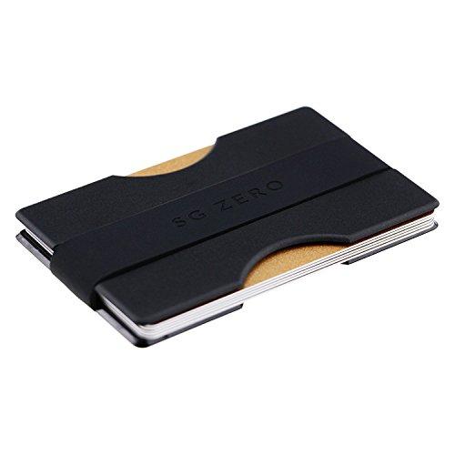 Herren Kreditkartenetui mit Geldklammer und Münzfach aus stabilem Polycarbonat - Smarter Geldbeutel für 1-12 Karten, Schlichtes Slim Wallet for Men