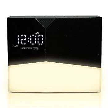 WITTI - BEDDI Glow   App Enabled Intelligent Alarm Clock with Wake-up Light Bluetooth Speaker and USB Charger