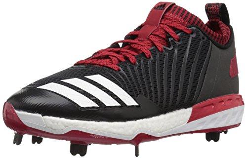 adidas Energy Boost Icon 3.0 Cleat - Herren Baseball, Schwarz (Schwarz/Weiß/Power Red), 48 EU