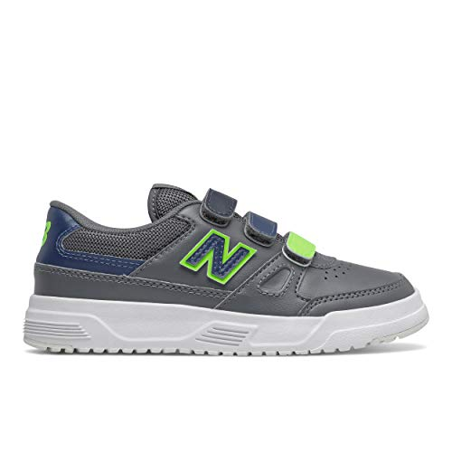 New Balance unisex child Ct20 V1 Hook and Loop Sneaker, Lead/Rogue Wave, 13.5 Wide Little Kid US