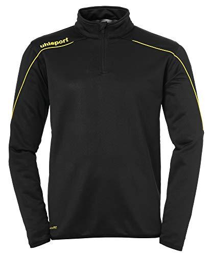 uhlsport Stream 22 1/4 Zip Top Sweatshirt Homme, Noir/Jaune (Black/Lime Yellow), 116