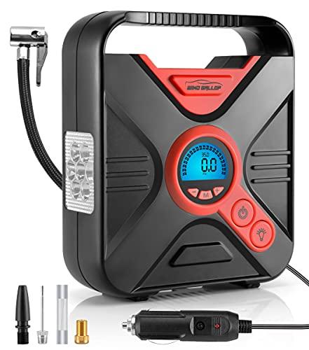 WindGallop Portatil Compresor Aire Coche 12V Inflador Ruedas Coche Mini Compresor de...