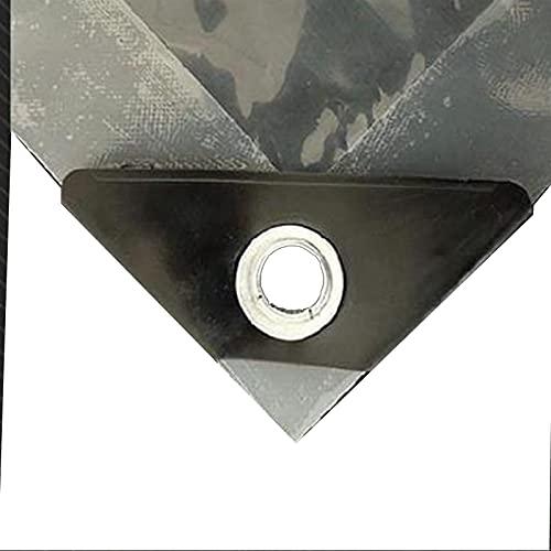 HAI RONG Lonas claras Arpaulin Impermeable a Prueba de Agua, Transparente Tarpaulina Impermeable para la Tapa de la Planta Aislamiento de jardín Tabletas de plástico (Color : Clear, Size : 4X8M)