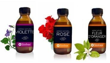 lotto 3 aromi naturali Fiori: Rosa - Viola - Fiori d' arancio