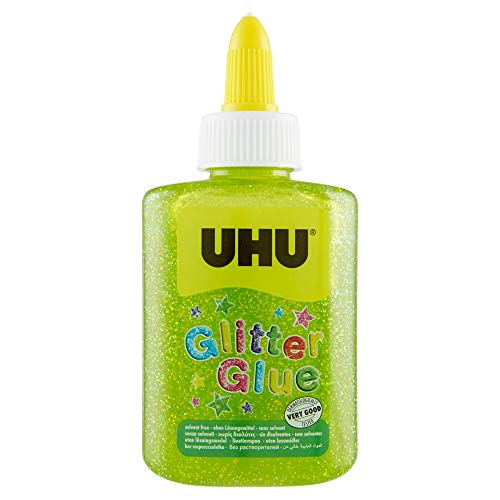 UHU Glitter Glue Bottle 88,5ml verde