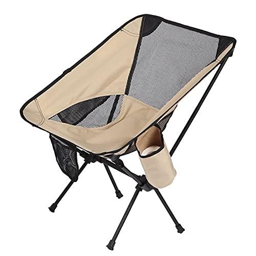 Livronic Silla de Luna Plegable portátil Ultraligera con Bolsa de Transporte de 120kg Capacidad Tela Impermeable Soporte de Aluminio Sillas de Camping al Aire Libre (Color : A6)