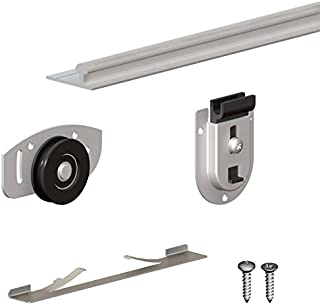 SLID'UP 130 - Sliding closet door hardware kit - 94-inch tracks for 2 or 3 bypass doors up to 154lbs each