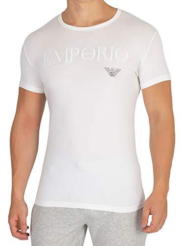 Emporio Armani CC716 111035_00010 Camiseta Interior, Blanco (White), Large (Tamaño del Fabricante:L) (Pack de 2) para Hombre