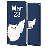 Android one 507SH ケース 手帳型 アンドロイド ワン 507SH カバー おしゃれ かわいい 耐衝撃 花柄 人気 純正 全機種対応 誕生日3月23日-猫 アニメ アニマル かわいい 9706308
