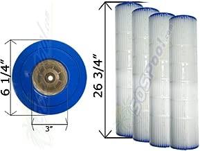 4 Pack 20 sq. ft. Cartridge Filter Pentair Quad D.E. 80 178655 C-6980 FC-1962
